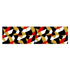 Colorful Abstract Pattern Satin Scarf (oblong)