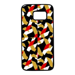 Colorful Abstract Pattern Samsung Galaxy S7 Black Seamless Case