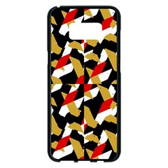 Colorful Abstract Pattern Samsung Galaxy S8 Plus Black Seamless Case