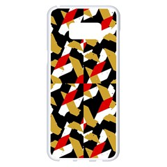 Colorful Abstract Pattern Samsung Galaxy S8 Plus White Seamless Case