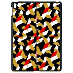 Colorful Abstract Pattern Apple Ipad Pro 9 7   Black Seamless Case