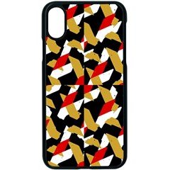 Colorful Abstract Pattern Apple Iphone X Seamless Case (black)