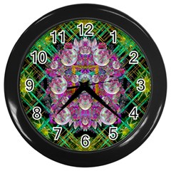 The Most Beautiful Planet Is Earth On The Sky Wall Clocks (black)
