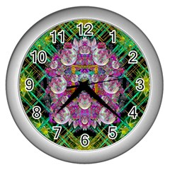 The Most Beautiful Planet Is Earth On The Sky Wall Clocks (silver)
