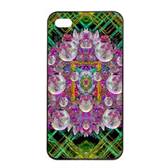 The Most Beautiful Planet Is Earth On The Sky Apple Iphone 4/4s Seamless Case (black)