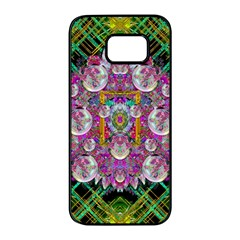 The Most Beautiful Planet Is Earth On The Sky Samsung Galaxy S7 Edge Black Seamless Case