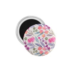 Purple And Pink Cute Floral Pattern 1 75  Magnets
