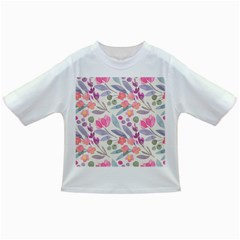 Purple And Pink Cute Floral Pattern Infant/toddler T Shirts