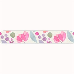 Purple And Pink Cute Floral Pattern Small Bar Mats