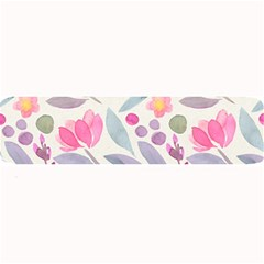 Purple And Pink Cute Floral Pattern Large Bar Mats