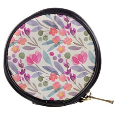 Purple And Pink Cute Floral Pattern Mini Makeup Bags