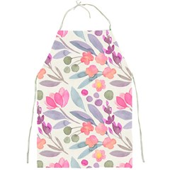 Purple And Pink Cute Floral Pattern Full Print Aprons