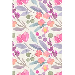Purple And Pink Cute Floral Pattern 5 5  X 8 5  Notebooks