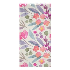 Purple And Pink Cute Floral Pattern Shower Curtain 36  X 72  (stall)