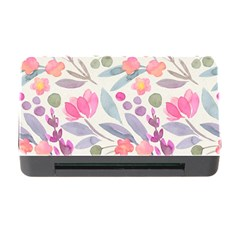 Purple And Pink Cute Floral Pattern Memory Card Reader With Cf