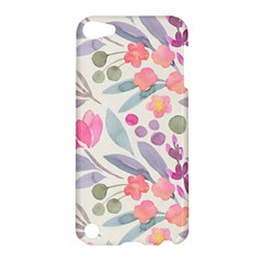 Purple And Pink Cute Floral Pattern Apple Ipod Touch 5 Hardshell Case