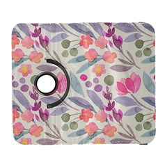 Purple And Pink Cute Floral Pattern Galaxy S3 (flip/folio)