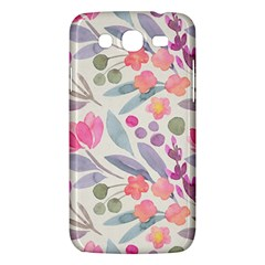 Purple And Pink Cute Floral Pattern Samsung Galaxy Mega 5 8 I9152 Hardshell Case