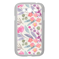 Purple And Pink Cute Floral Pattern Samsung Galaxy Grand Duos I9082 Case (white)