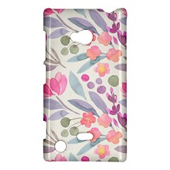 Purple And Pink Cute Floral Pattern Nokia Lumia 720