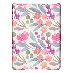 Purple And Pink Cute Floral Pattern Ipad Air Hardshell Cases
