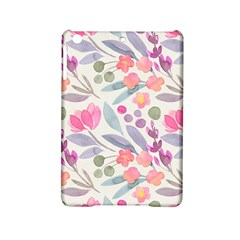 Purple And Pink Cute Floral Pattern Ipad Mini 2 Hardshell Cases