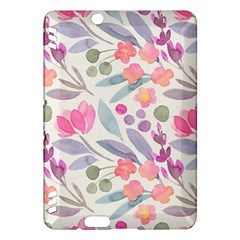 Purple And Pink Cute Floral Pattern Kindle Fire Hdx Hardshell Case