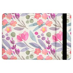 Purple And Pink Cute Floral Pattern Ipad Air Flip