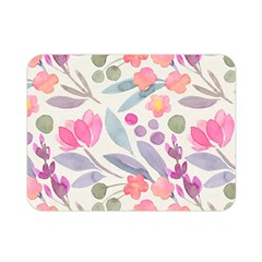 Purple And Pink Cute Floral Pattern Double Sided Flano Blanket (mini)