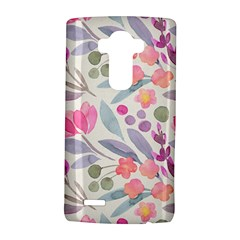 Purple And Pink Cute Floral Pattern Lg G4 Hardshell Case