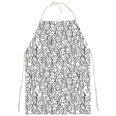 Elio s Shirt Faces In Black Outlines On White Full Print Aprons