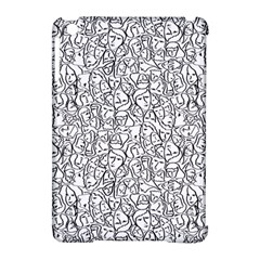 Elio s Shirt Faces In Black Outlines On White Apple Ipad Mini Hardshell Case (compatible With Smart Cover)
