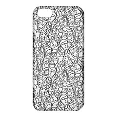 Elio s Shirt Faces In Black Outlines On White Apple Iphone 5c Hardshell Case