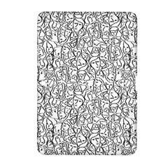 Elio s Shirt Faces In Black Outlines On White Samsung Galaxy Tab 2 (10 1 ) P5100 Hardshell Case