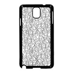 Elio s Shirt Faces In Black Outlines On White Samsung Galaxy Note 3 Neo Hardshell Case (black)