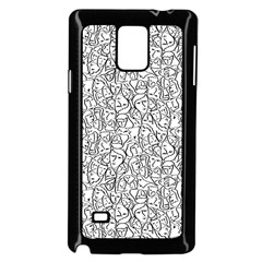 Elio s Shirt Faces In Black Outlines On White Samsung Galaxy Note 4 Case (black)