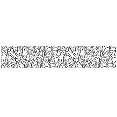 Elio s Shirt Faces In Black Outlines On White Large Flano Scarf