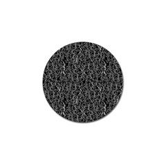 Elio s Shirt Faces In White Outlines On Black Crying Scene Golf Ball Marker (10 Pack)