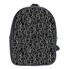 Elio s Shirt Faces In White Outlines On Black Crying Scene School Bag (xl)