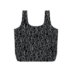 Elio s Shirt Faces In White Outlines On Black Crying Scene Full Print Recycle Bags (s)