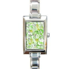 Light Floral Collage  Rectangle Italian Charm Watch