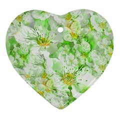 Light Floral Collage  Ornament (heart)
