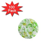 Light Floral Collage  1  Mini Magnets (100 Pack)