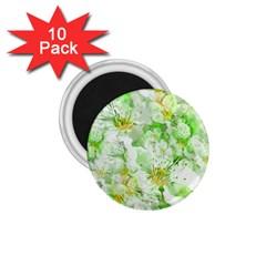 Light Floral Collage  1 75  Magnets (10 Pack)