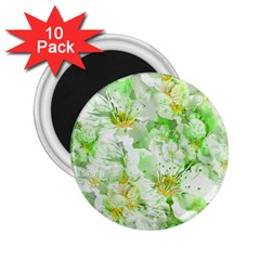 Light Floral Collage  2 25  Magnets (10 Pack)