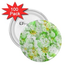 Light Floral Collage  2 25  Buttons (100 Pack)