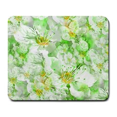 Light Floral Collage  Large Mousepads
