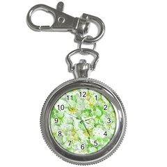 Light Floral Collage  Key Chain Watches