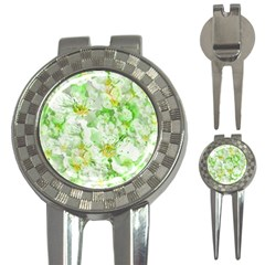 Light Floral Collage  3 In 1 Golf Divots