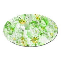 Light Floral Collage  Oval Magnet